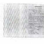 Бирюков - сертификат специалиста хирурга 1997